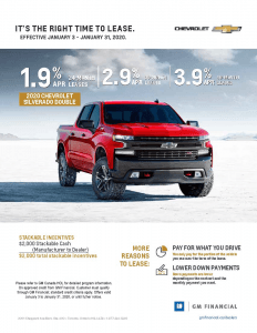 2020 Chevrolet Silverado Double Cab Lease Offer