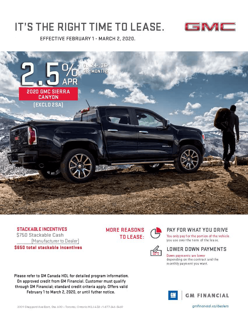 2020 GMC Canyon Lease Offer